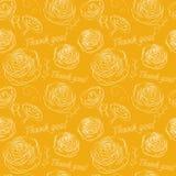 Nahtloses Muster mit Blumen und mit Wörtern von Dankbarkeit Lizenzfreies Stockfoto