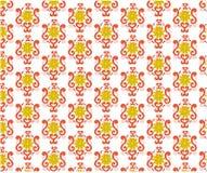 Nahtloses Muster mit Blumenblättern, Gewebe, gelbe Blume lizenzfreie abbildung