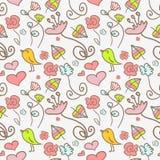 Nahtloses Muster mit Blumenelementen Lizenzfreie Stockfotos