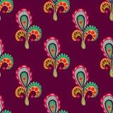 Nahtloses Muster mit Blumenelementen lizenzfreie abbildung