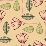 Nahtloses Muster mit Blumenelementen stock abbildung
