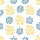 Nahtloses Muster mit Blumenmuster lizenzfreie abbildung