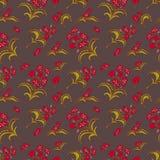 Nahtloses Muster mit Blumenverzierung Lizenzfreie Stockfotos