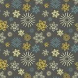 Nahtloses Muster mit Blumenverzierung Stockbild
