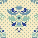 Nahtloses Muster mit Blumenverzierung Stockfoto