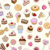 Nahtloses Muster mit Bonbons. Stockbilder