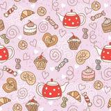 Nahtloses Muster mit Bonbons Stockfotografie