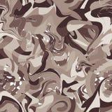 Nahtloses Muster mit braunen Klecksen Stockbilder