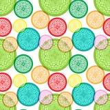 Nahtloses Muster mit bunten abstrakten Elementen Stockbild