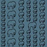 Nahtloses Muster mit bunten Elefanten für Gewebe, Bucheinband, verpackend vektor abbildung