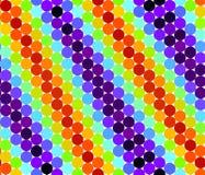 Nahtloses Muster mit bunten Kreisen Stockfotos