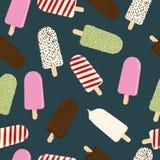 Nahtloses Muster mit bunter Eiscreme Vektor Lizenzfreie Stockbilder