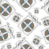 Nahtloses Muster mit dekorativen Geschenken Lizenzfreie Stockfotografie