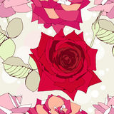 Nahtloses Muster mit dekorativen Roseblumen Stockbilder