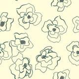 Nahtloses Muster mit dekorativer Mohnblume blüht auf Hintergrund Lizenzfreies Stockbild