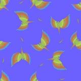 Nahtloses Muster mit dem Fliegen des bunten Papageien Lizenzfreies Stockfoto