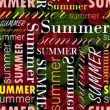 Nahtloses Muster mit dem Sommertext, bunt lizenzfreie abbildung
