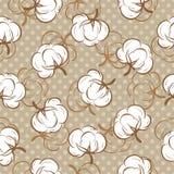 Nahtloses Muster mit den Baumwollknospen Stockbilder