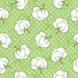 Nahtloses Muster mit den Baumwollknospen Stockfoto