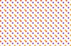 Nahtloses Muster mit den mehrfarbigen Punkten lokalisiert auf Weiß Lizenzfreies Stockbild