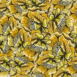 Nahtloses Muster mit den Mohnblumenblumen Pastell Stockbilder
