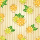 Nahtloses Muster mit den Zitronen geschnitten Stockbilder