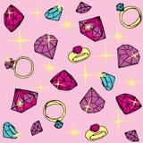 Nahtloses Muster mit Diamanten Lizenzfreies Stockfoto