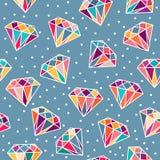 Nahtloses Muster mit Diamanten Stockfotografie