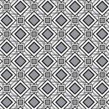 Nahtloses Muster mit Diamanten und Quadraten Vektor Lizenzfreies Stockfoto