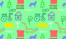 Nahtloses Muster mit einem Bauernhof Lizenzfreie Stockfotos