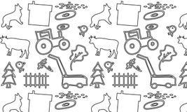 Nahtloses Muster mit einem Bauernhof Lizenzfreie Stockfotografie