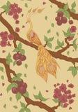 Nahtloses Muster mit einem Feuervogel Lizenzfreie Stockfotos