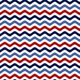 Nahtloses Muster mit einem Seethema Retro- Farben Bunte Seewellen streifen Lizenzfreies Stockfoto