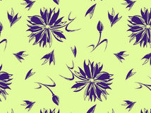 Nahtloses Muster mit einer Kornblume auf einem Hintergrund stockbilder