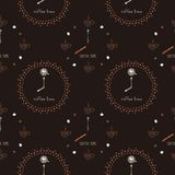 Nahtloses Muster mit einer Uhr Stockfoto