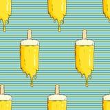 Nahtloses Muster mit Eiscreme stock abbildung