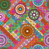 Nahtloses Muster mit Elementen der Mandala Ethnische Bänder Boho Stammes- Artdesign Lizenzfreie Stockfotos