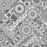 Nahtloses Muster mit Elementen der Mandala Ethnische Bänder Boho Stammes- Artdesign Lizenzfreie Stockfotografie