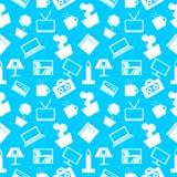 Nahtloses Muster mit Elementen des Hauptdekors Lizenzfreie Stockfotos