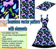 Nahtloses Muster mit Elementen vektor abbildung
