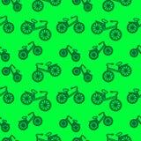 Nahtloses Muster mit Elementen von Fahrrädern Lizenzfreies Stockbild
