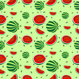 Nahtloses Muster mit Elementen von Wassermelonen Lizenzfreie Stockfotos