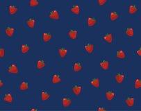 Nahtloses Muster mit Erdbeeren Lizenzfreies Stockbild