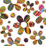 Nahtloses Muster mit ethnische Motive kopierten Blumen Stockbilder