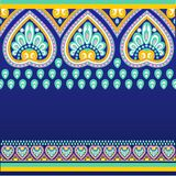 Nahtloses Muster mit ethno Motiven Stockbild