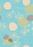 Nahtloses Muster mit Fahrrädern Stockfotos