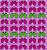 Nahtloses Muster mit Farbe stilisierte Handschuhe und Schneeflocken Helles Winterhintergrundkonzept von Erholungsferien Stockbilder