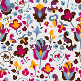 Nahtloses Muster mit farbigen Blumen Stockbild