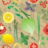 Nahtloses Muster mit farbigen Grüns Lizenzfreies Stockfoto