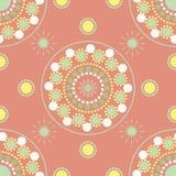 Nahtloses Muster mit farbigen Punkten und Kreisen Stockfotografie